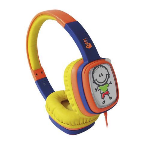 Fone de Ouvido Headphone Kids Cartoom Amarelo Oex Hp-302