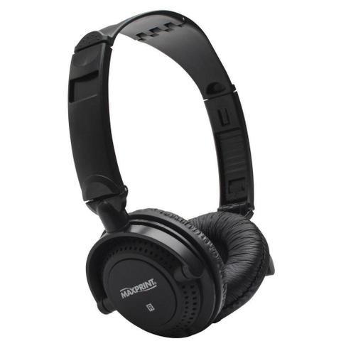 Fone de Ouvido Headphone Haste Dobrável Preto Maxprint 603621