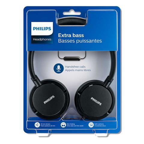 Imagem de Headphone Fone Philips Extra Bass Preto Shl5005/00 Microfone