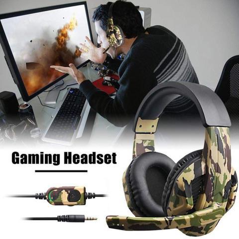 Imagem de Headphone Gamer Camuflado P2 Microfone PS4 Xbox one Xbox 360 Nintendo Switch PC