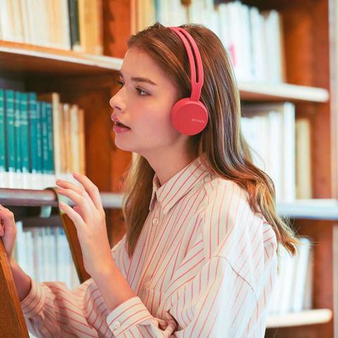 Imagem de Headphone Sony WH-CH400, Bluetooth - Vermelho