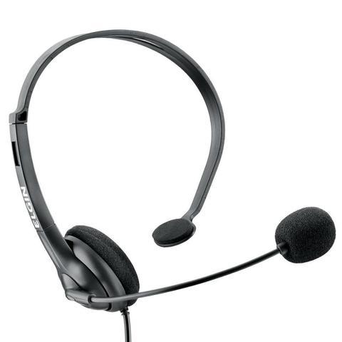 Imagem de Headset Ajustavel com Microfone RJ9 Preto 42F021NSRJ00 1 UN Elgin