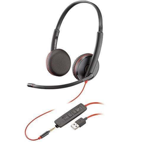 Fone de Ouvido Headset Blackwire Plantronics C3225