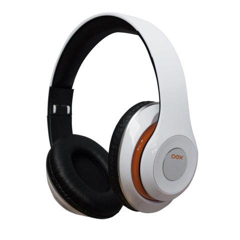 Fone de Ouvido Headphone Com Microfone Balance Bluetooth Branco Oex Hs301