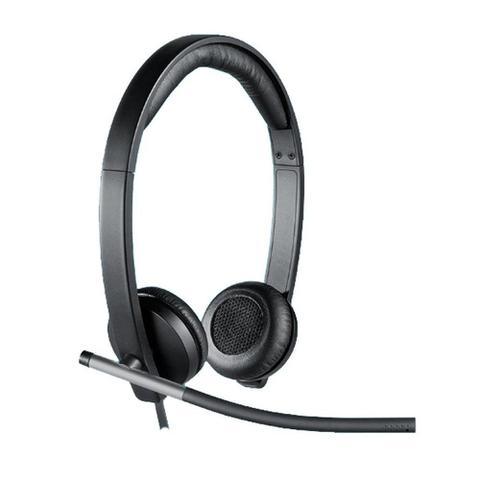 Fone de Ouvido Headset Estéreo Usb Logitech H650e