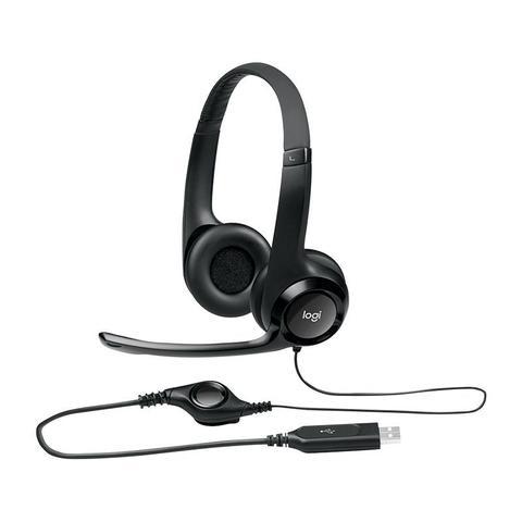Imagem de Headset* c/microfone usb h390 preto 981-000014 logitech