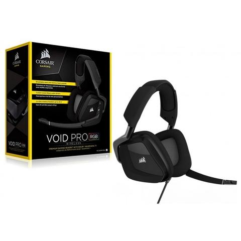Imagem de Headset Corsair Gaming Void Pro Black Carbon Rgb Wireless Dolby Digital Surround 7.1 - CA-9011152-NA