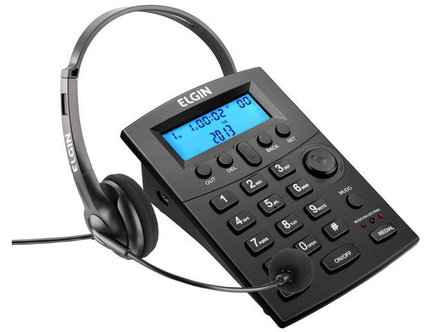 Fone de Ouvido Com Headset Saída para Gravação Elgin Hst-8000