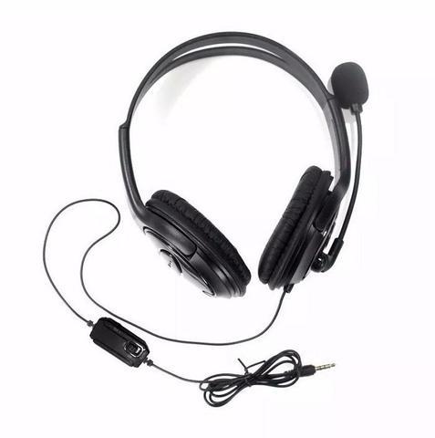 Imagem de Headset Fone De Ouvido Com Microfone Stereo Com Fio Para Ps4 Play 4 Playstation 4 e Xbox One HYS-MPS401