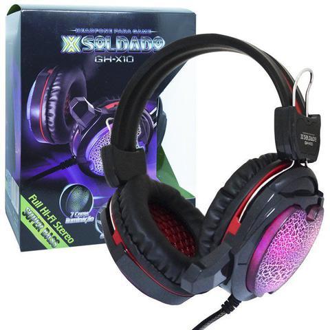 Fone de Ouvido Headset Gamer Soldado Colorido Exbom Ghx10