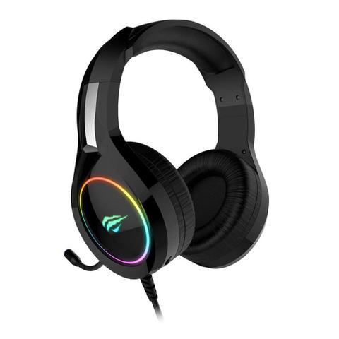 Imagem de Headset Gamer Havit H2232D com Microfone Preto com Iluminação RGB USB e P2 - HV-H2232D