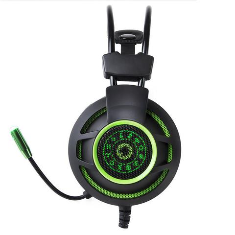 Imagem de Headset Gamer Pro Gamemax HG9012 7.1 Virtual USB Preto LED Verde