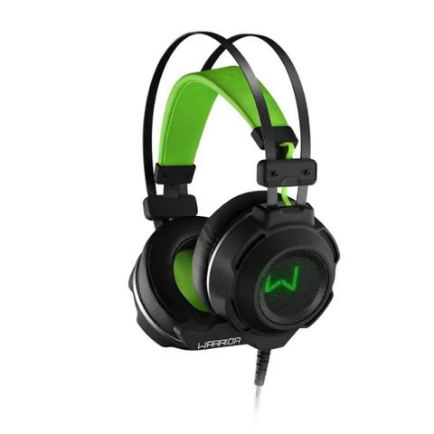 Fone de Ouvido Headset Gamer Warrior Arco Preto e Verde Multilaser Ph225