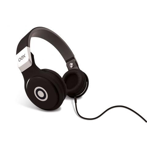 Fone de Ouvido Headphone Com Microfone Groove Hp102 Preto Oex 480101