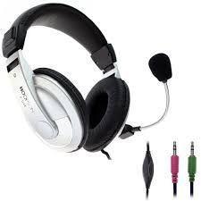 Fone de Ouvido Headphone Profissional Com Microfone Prata Hoopson F-014pt/20