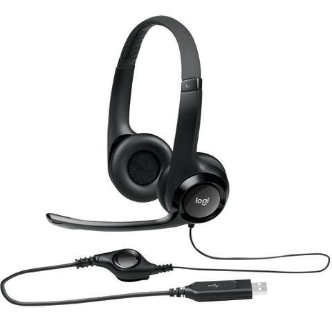 Imagem de Headset Logitech Audio Digital Em Couro Usb H390 - Preto