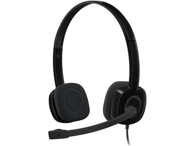 Fone de Ouvido Headset Stereo Preto Logitech H151