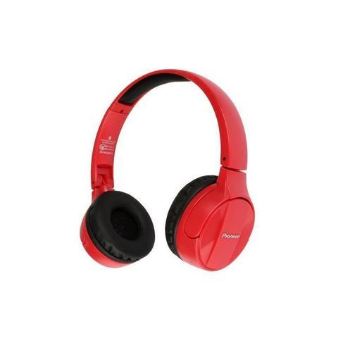 Fone de Ouvido Headphone Wireless Stereo Vermelho Pioneer Se-mj553bt-r