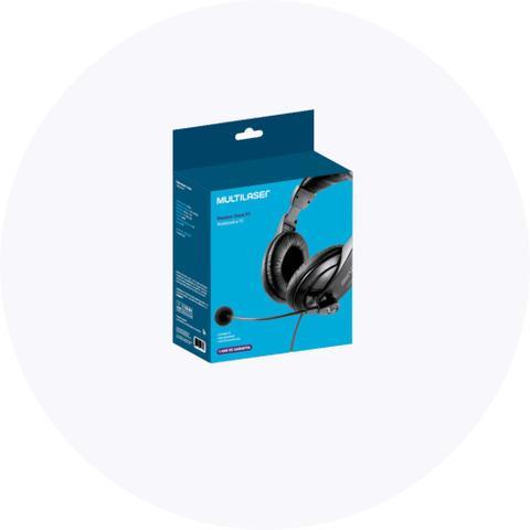 Imagem de Headset Profissional Multilaser PH049 c/ Microfone Giant P2