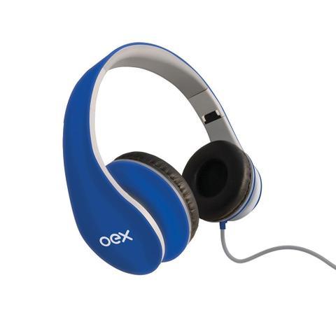 Fone de Ouvido Headphone Over Ear Sense Azul Oex Hp-100