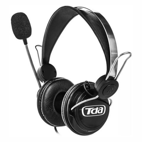 Fone de Ouvido Headphone Gamer Preto Com Microfone Tda Td-7500