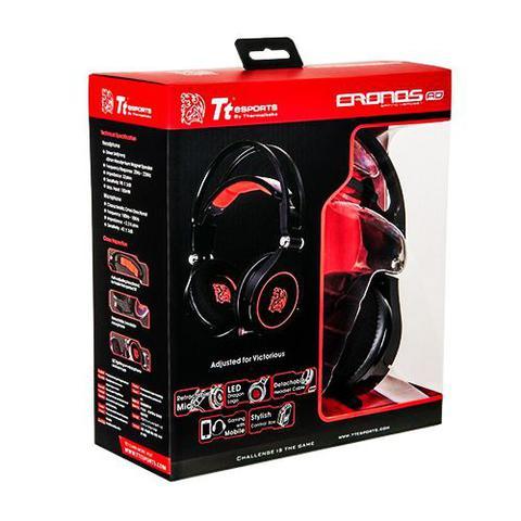 Fone de Ouvido Headset Gamer Esports Cronos Ad Black Thermaltake Ht-cra-anecbk-14