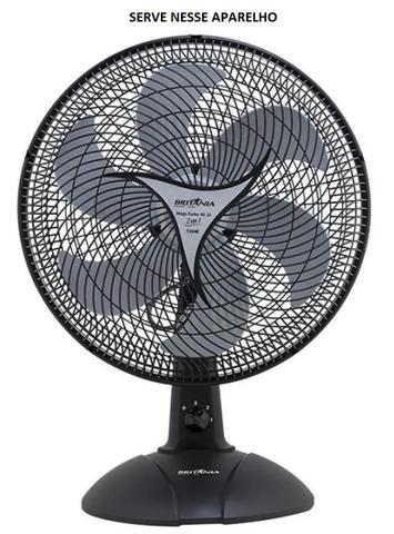 Imagem de Helice para ventilador britânia/philco 40 cm 6 pás original - cor cinza