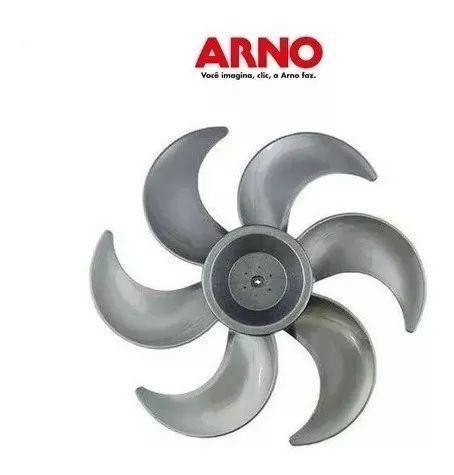 Imagem de Helice Ventilador Arno 40cm Silence Force 6 Pás Mesa Parede Coluna Original Cinza / Prata