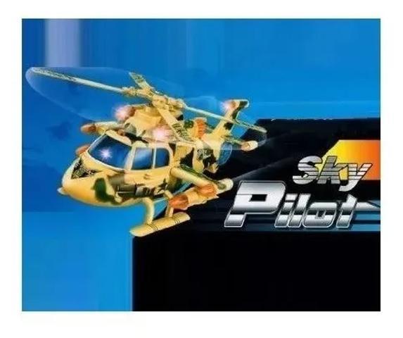 Imagem de Helicóptero Bate E Volta Som E Luzes Brinquedo Divertido comm segurança