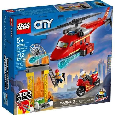 Imagem de Helicóptero de Resgate dos Bombeiros - Lego City 60281