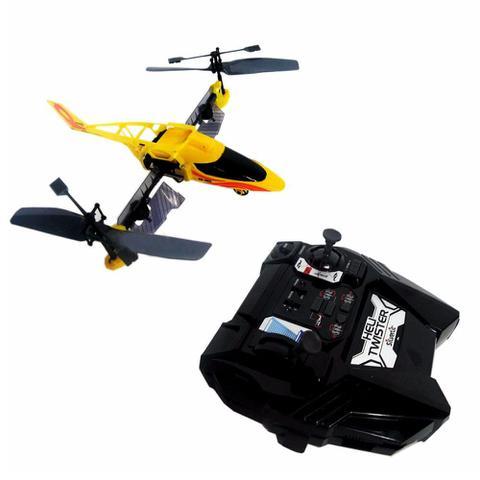 Imagem de Helicóptero Silverlit Heli Twister Rádio Controle Amarelo - DTC