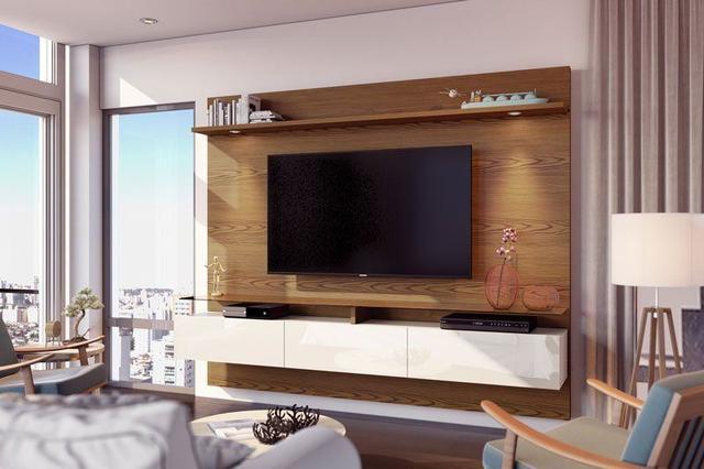 Imagem de Home Suspenso Vidratto 2.2 Freijó com Off White - Imcal Móveis