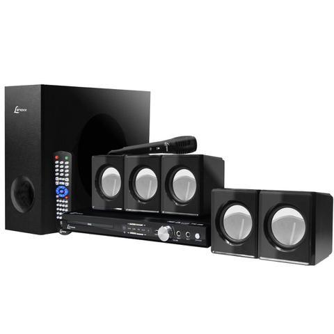 Imagem de Home Theater C/ Karaoke e /FM/USB 200W RMS HT723 - Lenoxx
