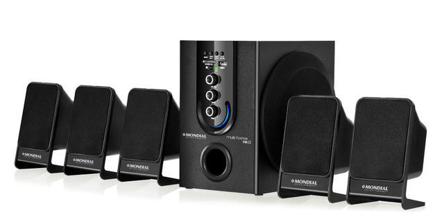 Imagem de Home Theater Mondial com FM. 75WRMS e Entradas USB e SD Multi Home FM II HT-12
