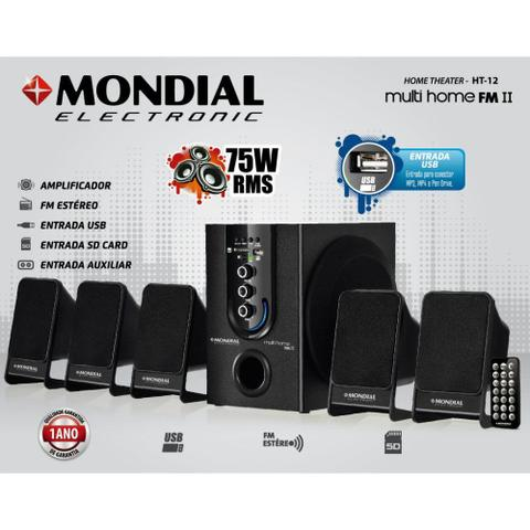 Imagem de Home Theater Mondial Multi Home FM II HT12 75W
