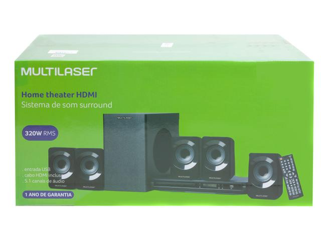 Imagem de Home Theater Multilaser com DVD 320W HDMI
