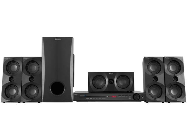 Imagem de Home Theater Philco Bluetooth com DVD Karaokê 550W