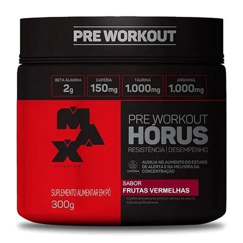 Imagem de Horus Pre-Workout 300g frutas vermelhas Max Titanium