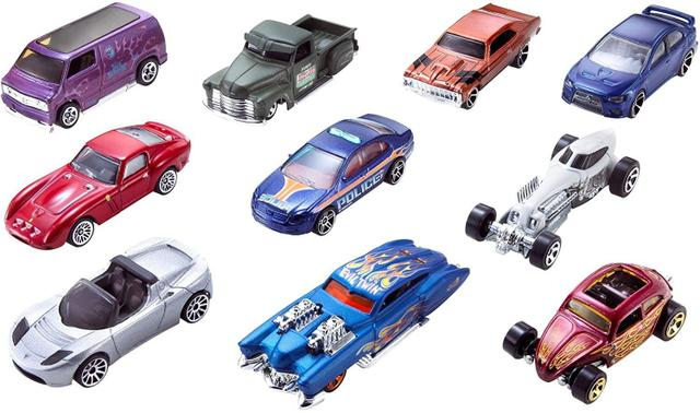 Imagem de Hot Wheels - Pacote 10 Carros Sortidos (NÃO É POSSIVEL ESCOLHER AS CORES)