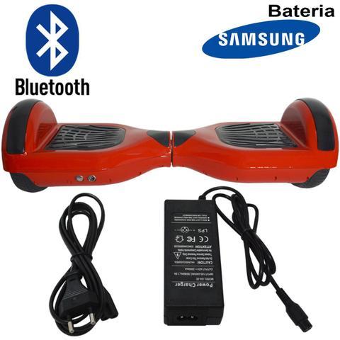 Imagem de Hoverboard 2 Rodas 6,5 Polegadas + Carrinho Assento Hoverkart Bluetooth BW009-058 Vermelho Bolsa