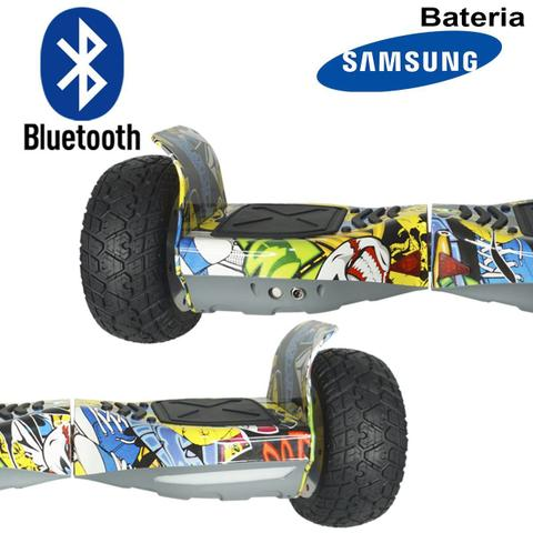 Imagem de Hoverboard 2 Rodas 8,5 Polegadas + Carrinho Assento Hoverkart Bluetooth BW056-058 Colorido Bolsa