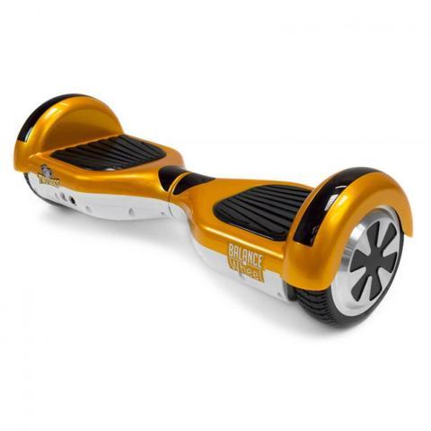 Imagem de Hoverboard Balance Wheel Skate Eletrico Bivolt Dourado e Branco  Two Dogs