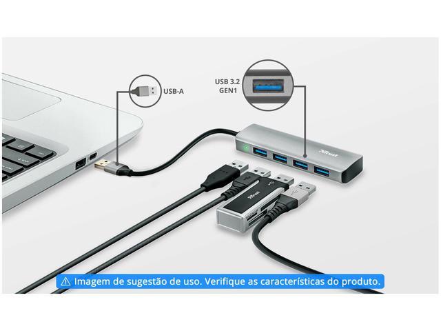 Imagem de Hub 4 Portas USB-A3.2 Trust