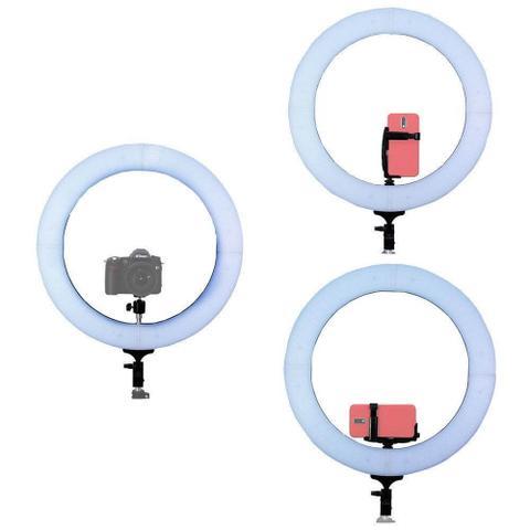 Imagem de Iluminador de Led Ring Light 26Cm com Fonte de Alimentação + Tripé 2 Metros