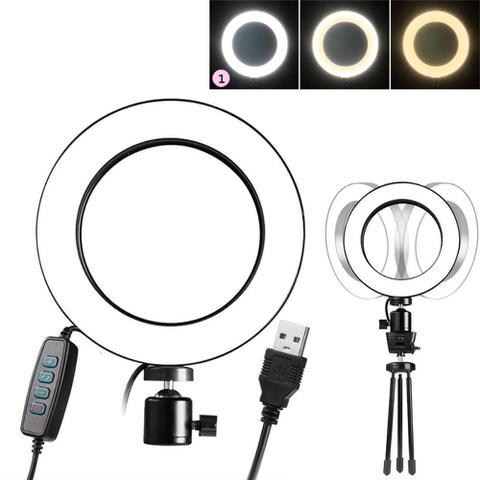 Imagem de Iluminador Ring Ligth LED 6.2 Controle de Cor 3500k a 5500k Youtuber - Exbom