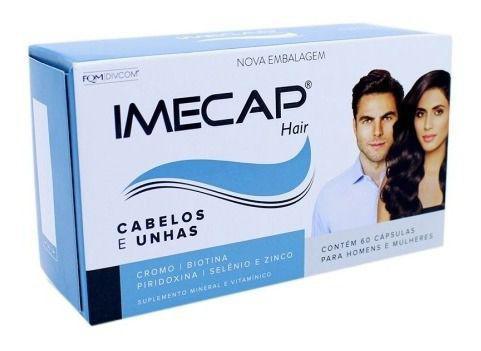 Imagem de Imecap Hair 60 Capsulas Original C/ Nota