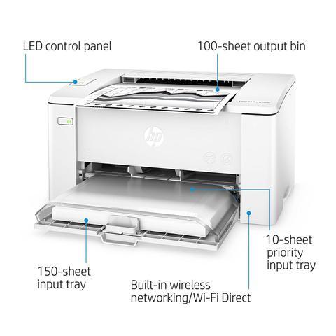 Imagem de Impressora HP Laserjet Mono M102W 110v