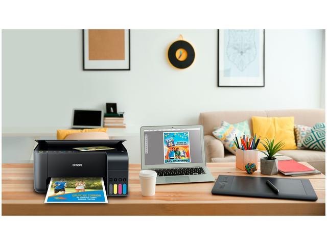 Imagem de Impressora Multifuncional Epson EcoTank L3150 Tanque de Tinta Wi-Fi Colorida USB