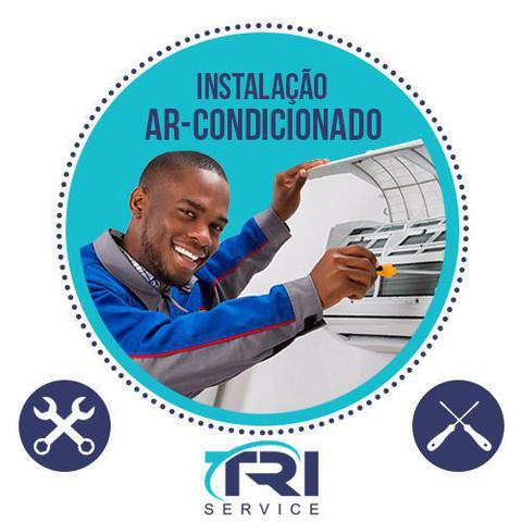 Imagem de Instalação de Ar Condicionado Split Hi Wall de 11000 a 14000 BTUs Tri Service