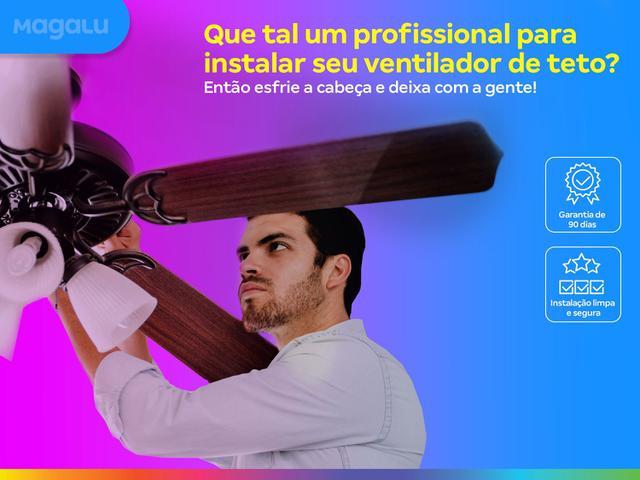 Imagem de Instalação de ventilador de teto - profissionais certificados, qualidade garantida